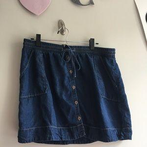 Universal Thread Dark Wash Button Down Denim Skirt